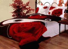 Red, White & Black bedroom