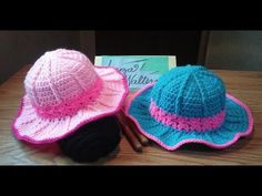 (14) Crochet Pretty in pink sun hat part 1 - YouTube