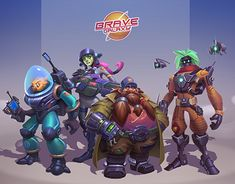 """Check out new work on my @Behance portfolio: """"Team Brave Galaxy"""" http://be.net/gallery/61118897/Team-Brave-Galaxy"""