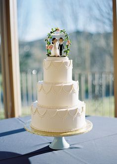 Classic 3-tier wedding cake | photos by Whitney Neal | 100 Layer Cake