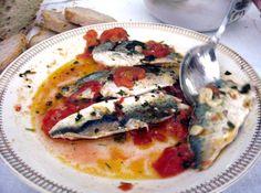 Grilled Sardines in a Light Tomato Wine Sauce Sardine alla Griglia in Salsa Leggera di Pomodoro e' Vino