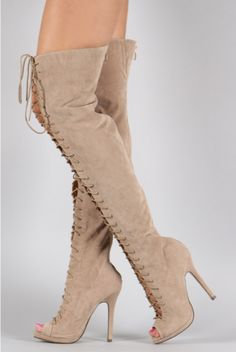 """""""Nude Or Nothing"""" Thigh High Boot"""