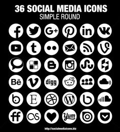 164 Best Social Media Icons images in 2019 | Social media icons