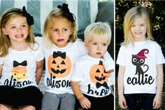 Personalized Halloween Shirts for Kids!