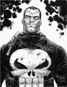 tonymoore: Here's a Punisher piece i did at C2E2 last weekend. it's fun to draw Frank.