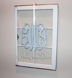 12 INCH Wooden monogram Wall Letters Wedding by MonogramDecorNest