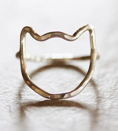 Kitty Ring by Amy Waltz Designs on Scoutmob