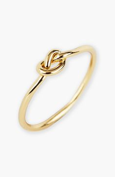 This dainty knot ring is on the wish list.