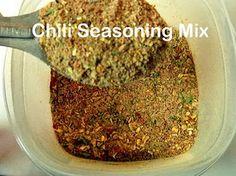 Chili Seasoning Mix from scratch