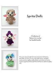 Sprite Dolls free Crochet Patterns by NeedleNoodles (Christen Haden