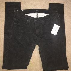 Hudson Skinny Jeans Black and gray designed Hudson Krista super skinny jeans. New tags still attached. Hudson Jeans Jeans Skinny
