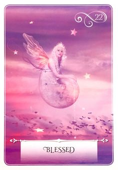 """Daily Angel Oracle Card: Blessed, from the Wisdom Of The Oracle, by Colette Baron-Reid Blessed ~ Essential Meanings: """"Something wonderful that is unearned and unexpected; grace that is an unf…"""