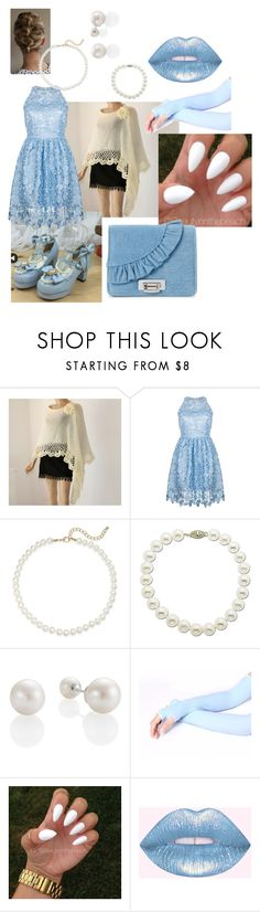 """""""light blue semi-formal"""" by crythin ❤ liked on Polyvore featuring Ukulele, Saks Fifth Avenue, Lord & Taylor and La Regale"""