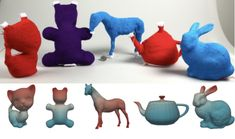Carnegie Mellon University researchers have developed a software that turns digital models into knitted objects. The program, which requires a computer-controlled knitting machine, could be used to create all types of customized printed stuffed toys. 3d Printing Business, 3d Printing Service, 3d Printer Software, 3d Printing Machine, Carnegie Mellon, 3d Printed Objects, Modeling Techniques, Kids Prints, Print Pictures