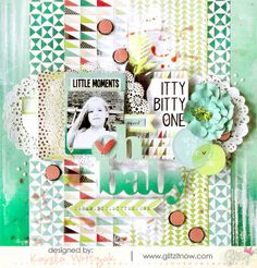 {Oh baby} layout * Glitz Design* - Scrapbook.com