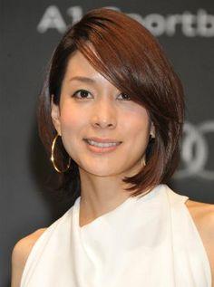 流し前髪にするとエレガントに。アナウンサー 内田恭子さんのボブスタイル参考一覧です♡
