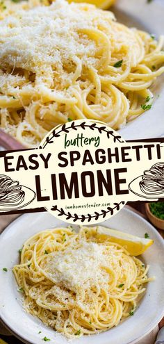 Here's one of the best comfort food recipes for you! Spaghetti Limone is a buttery, lemony, and easy pasta dish drizzled with olive oil and topped with plenty of parmesan cheese. Save this pin! Easy Pasta Dishes, Easy Pasta Recipes, Easy Meals, Best Comfort Food, Pasta Noodles, Stir Fry, Food To Make, Delish, Spaghetti