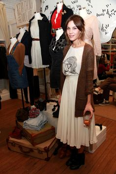 (NORTH AMERICAN SALES ONLY)  Designer/model Alexa Chung attends the Alexa Chung for Madewell launch party celebration during Fashion's Night Out at Madewell Boutique on September 10, 2010 in New York City.
