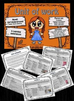 Unit of work based on the novel Girl Underground by Morris Gleitzman teaching vocabulary and global connections