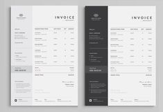 Invoice Template Use this Clean Invoice for personal, corporate or company billing purpose. Excel Auto Calculation features are available. This Simple Invoice will help you to create your invoice very quick and easy. Letterhead Template, Stationery Templates, Print Templates, Brochure Template, Logo Design, Graphic Design, Resume Words Skills, Printable Invoice, Backgrounds