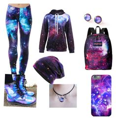 """""""Galaxy Princess"""" by sinsanity1524 ❤ liked on Polyvore featuring JanSport"""