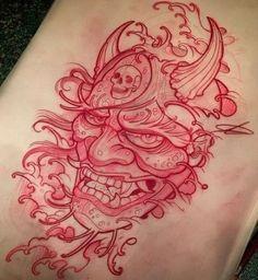 Super tattoo leg traditional sleeve 32 ideas - Super tattoo leg traditional sleeve 32 ideas Informations About Super tattoo leg traditional - Hanya Mask Tattoo, Death Tattoo, Tattoo Bein, Yakuza Tattoo, Asian Tattoos, Trendy Tattoos, Leg Tattoos, Tattoos For Guys, Sleeve Tattoos