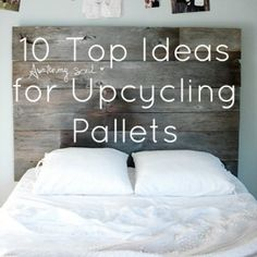 Upcycling Interiors: 10 Top Pallet Ideas 10 great ways to upcycle wood pallets. Cool Interiors for the home! Pallet Crafts, Pallet Projects, Diy Projects, Diy Crafts, Diy Pallet, Pallet Furniture Sofa, Diy Furniture, Garden Furniture, Repurposed Furniture