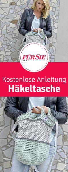 Knitting Patterns Bag Here& the free tutorial for this crochet bag. Love Crochet, Diy Crochet, Double Crochet, Crochet Hats, Knitting Yarn, Knitting Patterns, Crochet Patterns, Bag Pattern Free, Knit Basket