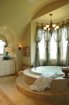 Curtains for bay window. Awesome!