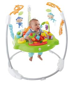 Fisher-Price - CHM91 - Trotteur Jumperoo Jungle - Jouet Musical