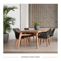 This elegant setting and dining table design is inspired by the Savannas which cover half the surface of Africa and are comprised mostly of grasses, scattered trees and beautiful wildlife ☀️ Dining Table, Dining Table Design, Inspiration, Furniture, Outdoor Furniture, Home, Luxury, Table Design, Home Decor