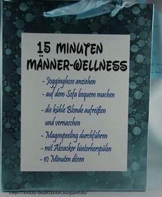 Ankes Bastelkram: 15 Minuten Männer-Wellness