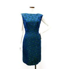 "I love this vintage 50's~60's royal blue with green cutouts! Too bad The Modern Historic already sold their only one. ""Like"" The Modern Historic on Facebook to see more vintage 40's~70's fashions which are for sale at their West Palm Beach, FL. store or to subscribe to their sales alerts & newsletters."