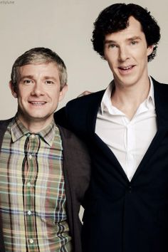 Benedict Cumberbatch & Martin Freeman Hobbit & Sherlock Each star in one or the other. Both show & movie are great. :)