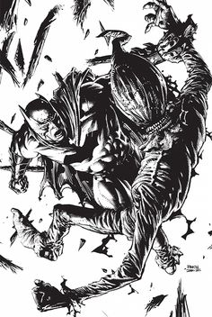 Batman vs Scarecrow by David Finch