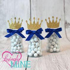 Petit Prince biberon faveurs en bleu Royal & Glitter Gold - Set de 12 - bébé douche