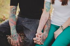 Tattooed couple - En