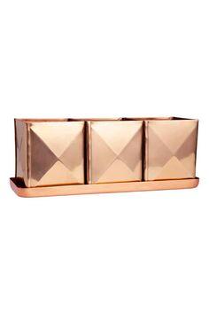 Vasos em tabuleiro, pack de 3 | H&M