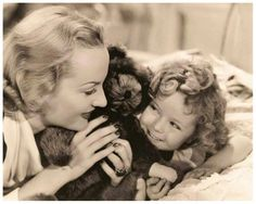 Shirley Temple and Carol Lombard