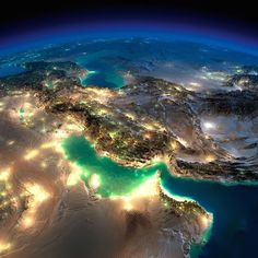25 Incredible Images of Earth At Night from Space by NASA