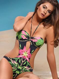 Love this print Jolidon Tropical Monokini 2014
