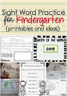 Tons of ideas for teaching sight words!