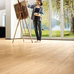 £11.59/m in sale Kronoswiss Zermatt 8mm V Groove Whitewashed Oak Laminate Flooring