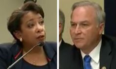 Listen to AG Lynch answer this doozy: Is there a LEGAL reason you won't answer us, or you just don't want to?