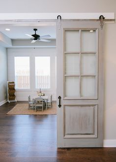 Reece Homes is building exceptional new homes in and around Bryan / College Station, Texas. Barn Door Window, Living Area, Living Room, Room Doors, Home Reno, Kid Spaces, Home Builders, French Doors, Kids Playing