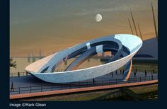 Aluna is a unique proposal for the world's first tidal powered Moon Clock.