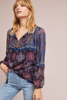 Anthropologie Talitha Peasant Top #ad