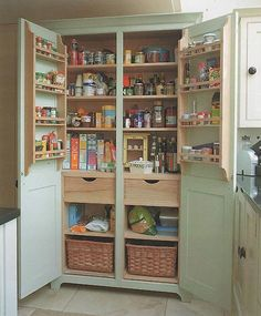 Freestanding Kitchen Cupboard. Great idea for those who need more cabinet space!