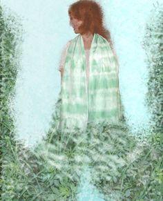 Shibori chlorophyll dyed cotton scarf by dyeing2meetU on Etsy, €45.00