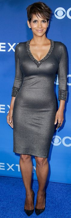 Halle Berry in Jenny Packham at the LA premiere of Extant.